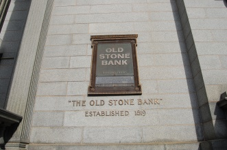 The Old Stone Bank was Founded in 1819