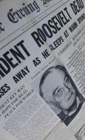 President Roosevelt Passes Away
